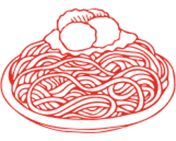 illustration of spaghetti