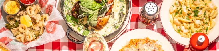 italian food spread
